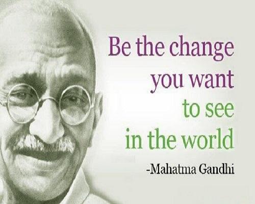 Gandhi jayanti quote