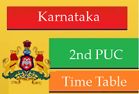 Karnataka PUC Time Table/Date Sheet 2016 – PUC 12th Time Table is Declared